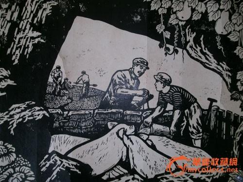龙黑白木刻版画素材