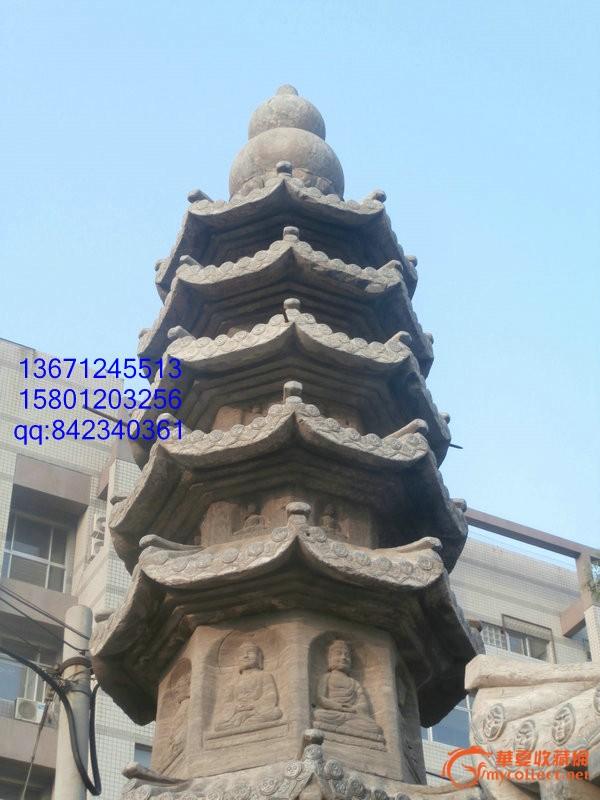 十几米高的石雕佛塔