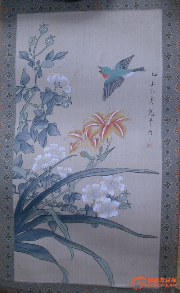 花鸟 工笔画 绢_花鸟 工笔画 绢价格_花鸟 工笔画 绢