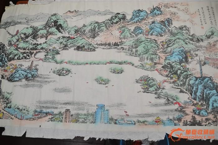 精美画一幅杭州西湖