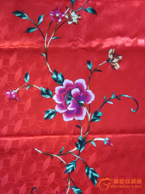刺绣凤穿牡丹图片