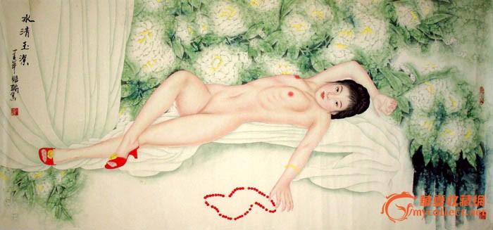 王镜皓人物画/美女画/冰清玉洁/推荐收藏/15533