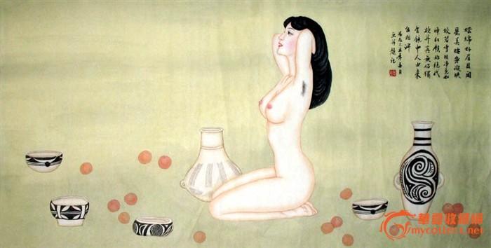 夏彤人物画/美女画/置嗪妹寄/卧室装饰收藏/19764