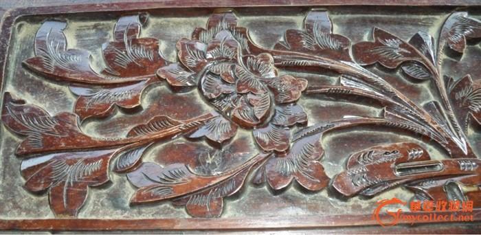 栩栩如生,传世美品,芙蓉花开,八仙过海,民国老花木板