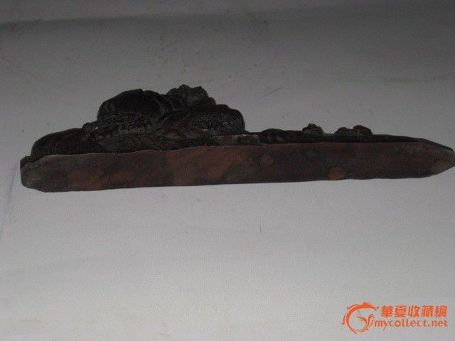 紫檀木笔架 高8长23厘米