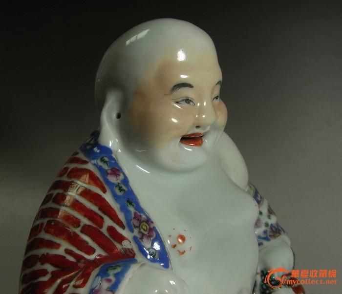 民国粉彩瓷塑弥勒佛