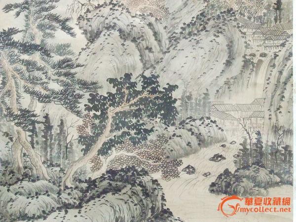 来自日本一幅画--锅岛山水画作品