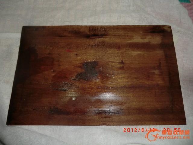 民国老楠木 手绘画板一对