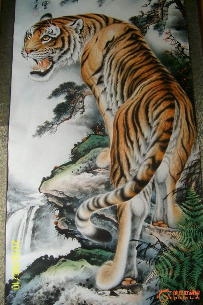 壁纸 动物 国画 虎 老虎 桌面 700_1050 竖版 竖屏 手机