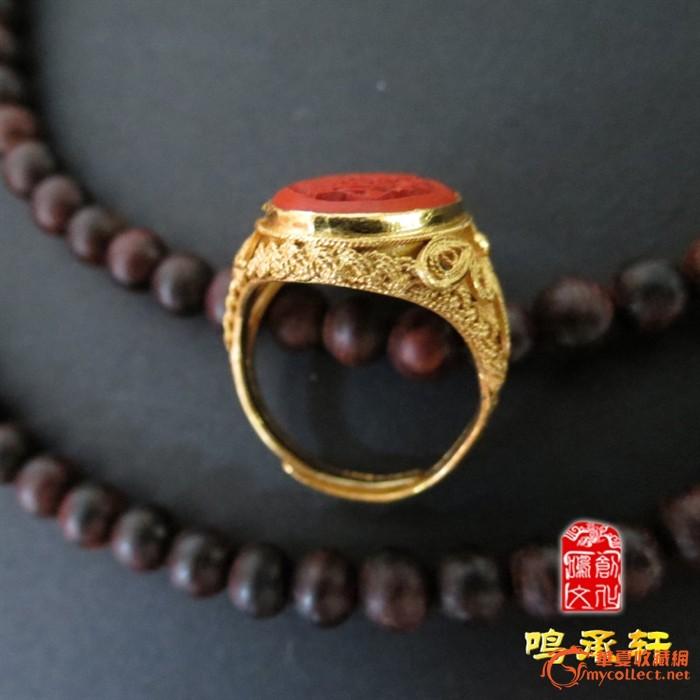 925银花丝镶嵌雕漆花片戒指