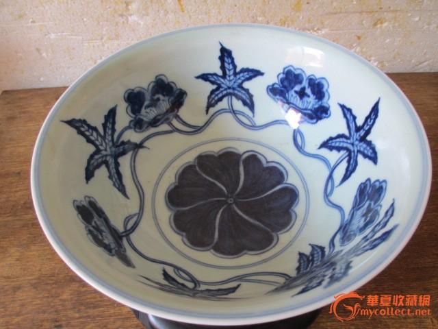 青花花纹 碗