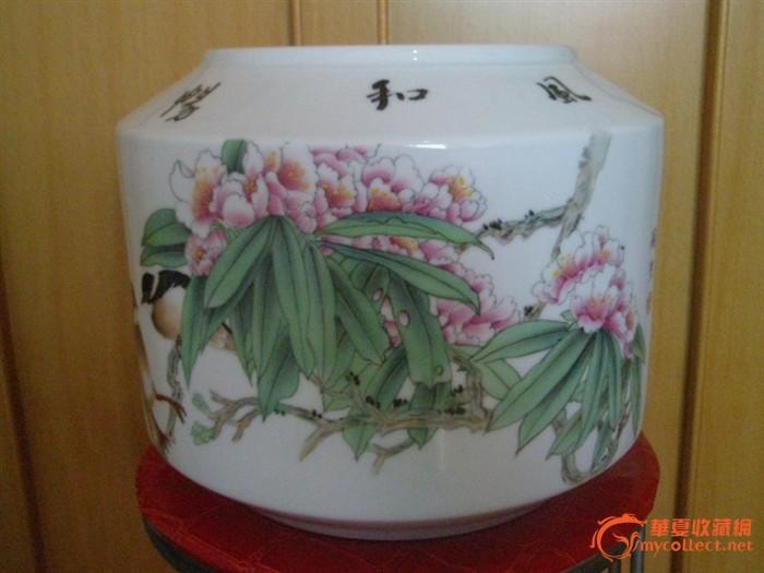 景德镇名家瓷器花瓶 工笔花鸟双向结合