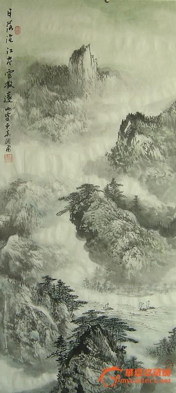 江南画家顾大飞中国画与山水水墨画图片