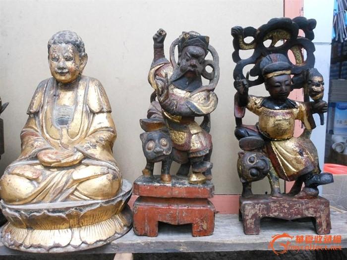 木雕佛像一组 四尊