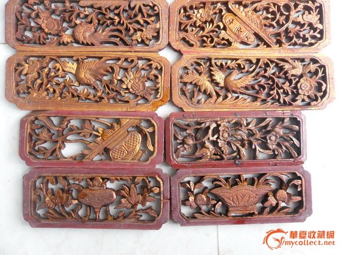 11片木雕小花板便宜出售