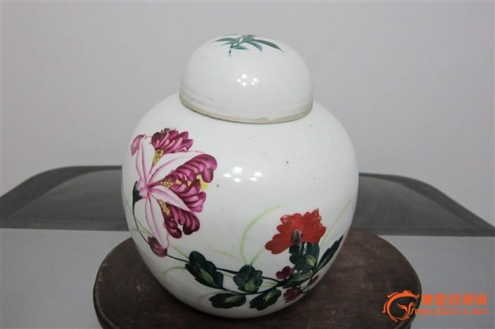 手绘画茶叶罐