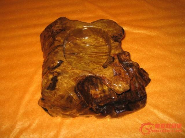 金丝楠烟灰缸 稀有老料树瘤瘿木花纹