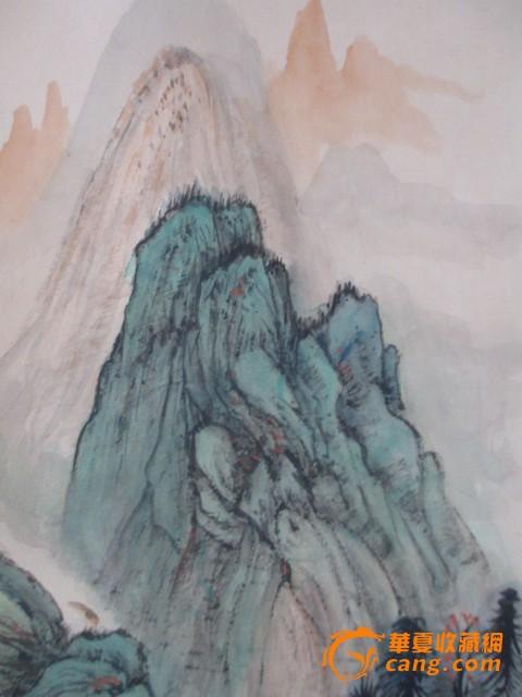 张大千青绿山水作品图片
