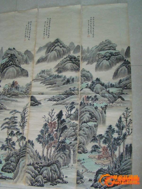 山水多浩淼,云蒸雾霭,变化丰富;兼作人物、花鸟;他通过各种技法