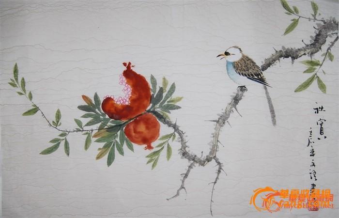 小写意国画花鸟作品