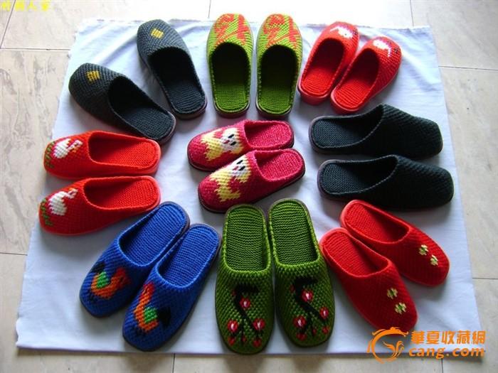 毛线拖鞋/纯手工编织/可爱图案/居家鞋/保暖拖鞋