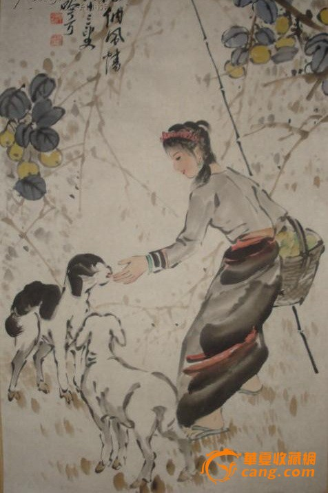 当代著名国画名家 宋吟可 牧羊图图片