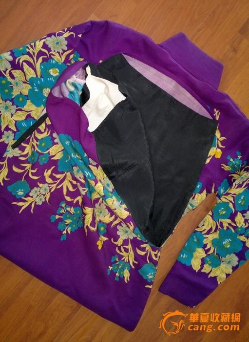 枫叶花纹旗袍展示