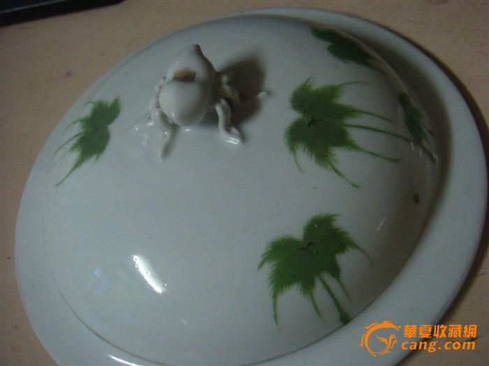 三件椰子花手绘瓷