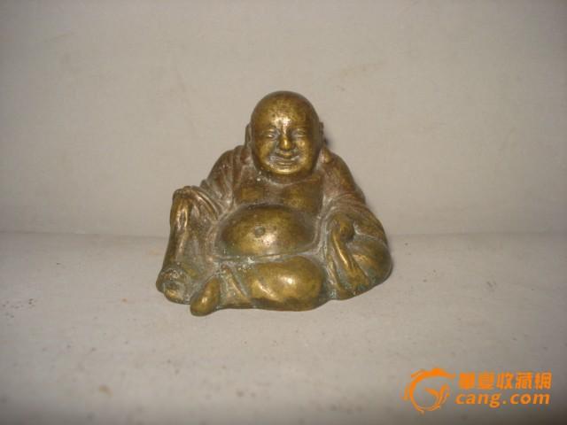 铜小弥勒佛坐像