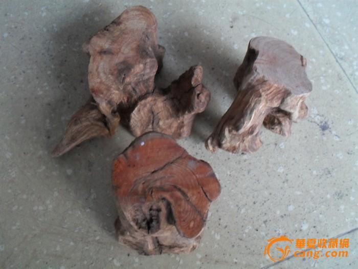 枣木根雕四件