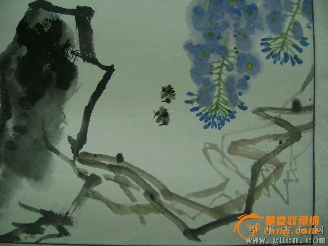 手绘画花鸟图