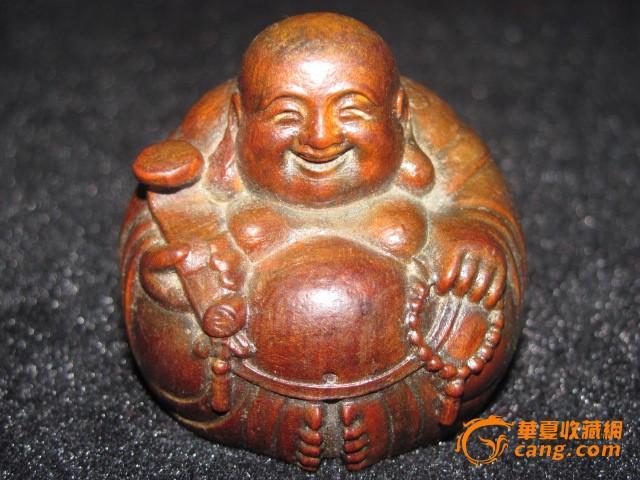 老黄杨木雕弥勒佛