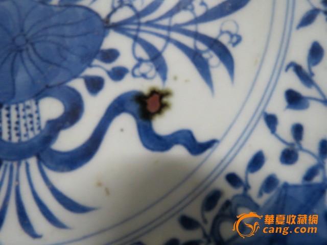 青花花纹盘子