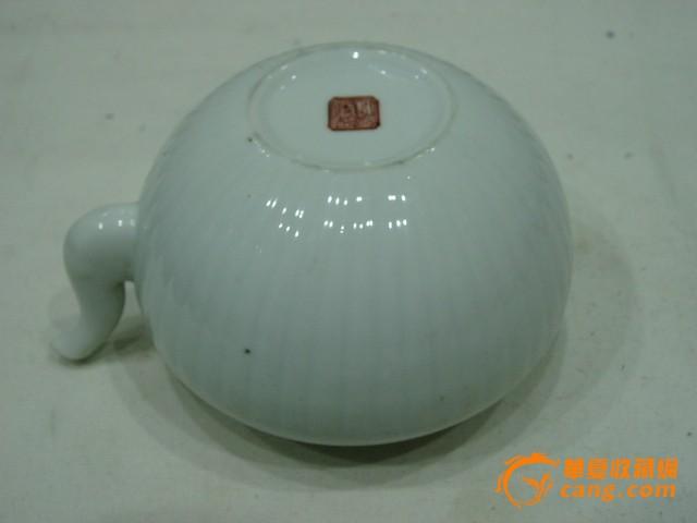 同治茶壶新风瓜棱名言树a茶壶正气扬年制时代警句白釉图片