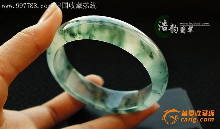 玻璃种飘花翡翠手镯_玻璃种飘花翡翠手镯价格_玻璃种