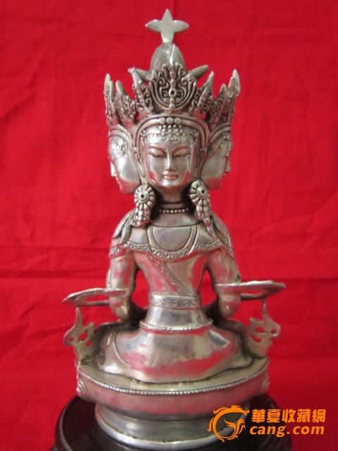 民国三面铜佛像