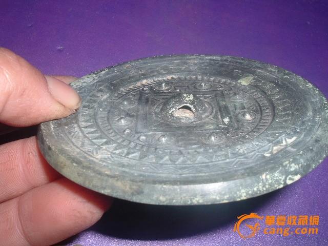 《包便宜批发 包老汉代精品纹饰厚胎青铜镜>>>