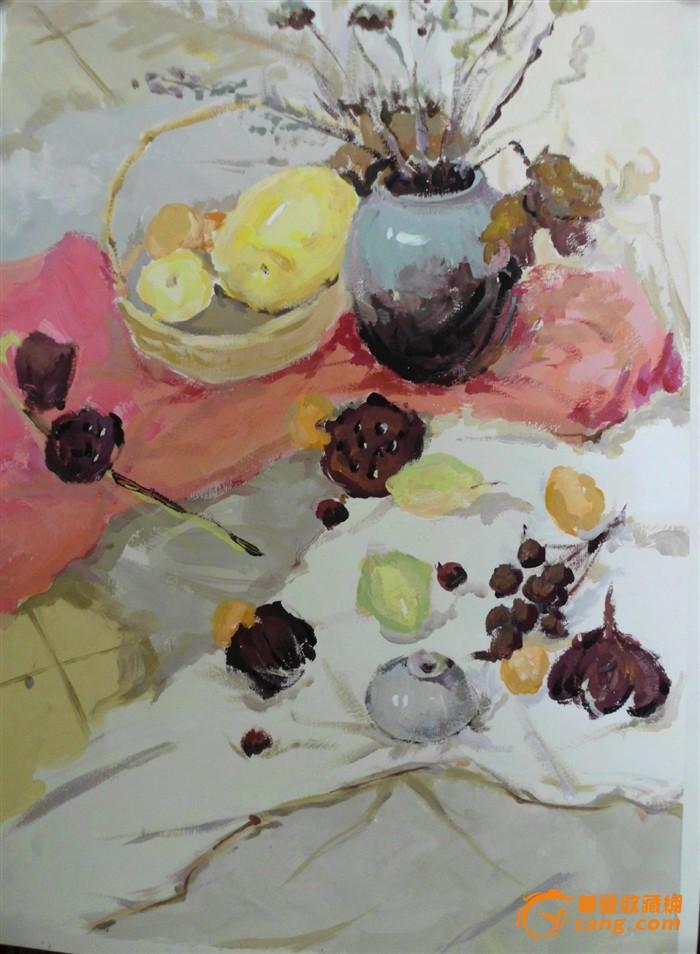 菜肴水粉手绘图
