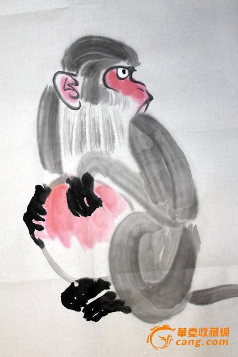 书画猴子画法步骤