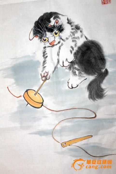 小猫写意国画步骤
