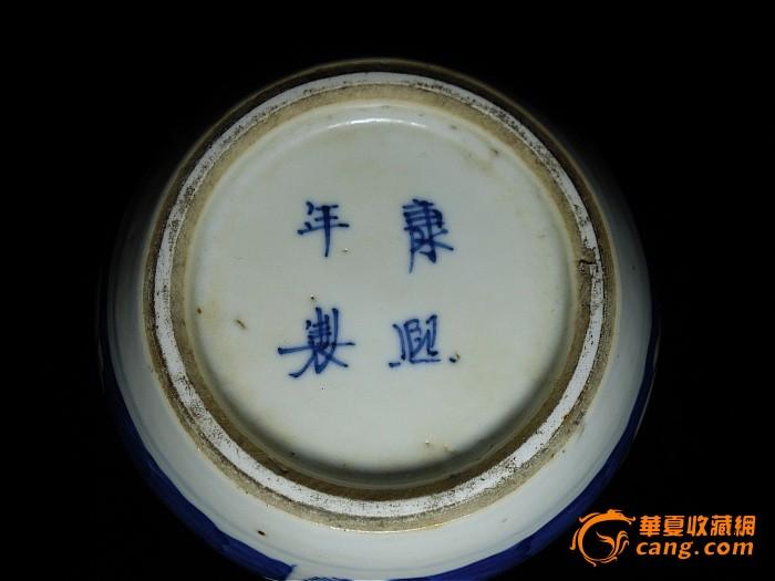 《康熙年制》款 青花梅花罐