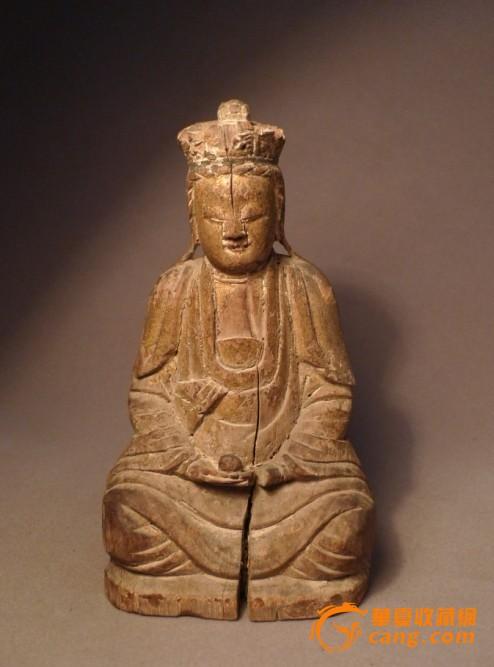 清代木雕观音菩萨像