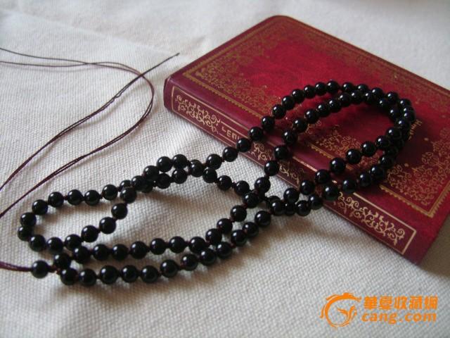 天然水晶 女士黑玛瑙毛衣链子 长项链 玉坠挂绳,手工编结