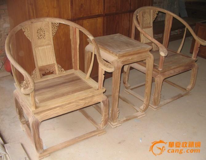 东阳木雕 红木家具 皇宫椅3件套