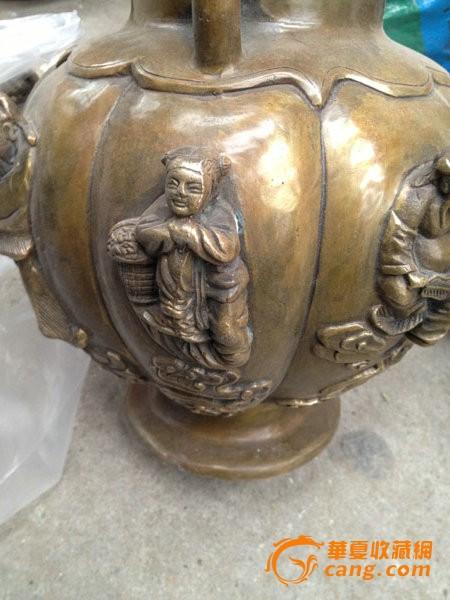 八仙过海 大铜壶 长嘴壶 直径26cm