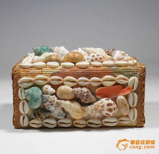 海螺贝壳工艺品*舟山海洋别风格*家居创意纸巾盒