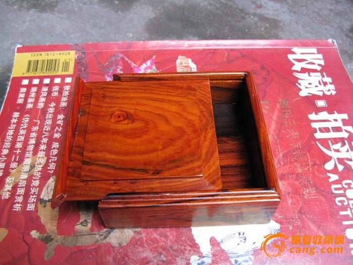 红酸枝盒子, 花纹好. 榫卯结构(#2)