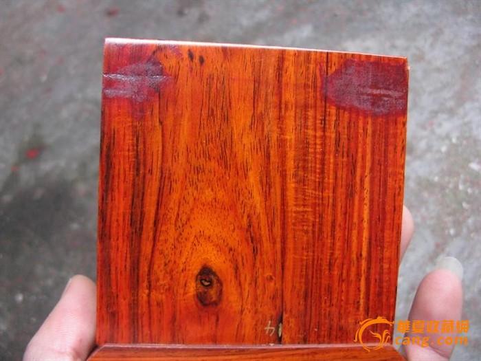 红酸枝盒子, 花纹好. 榫卯结构(#3)