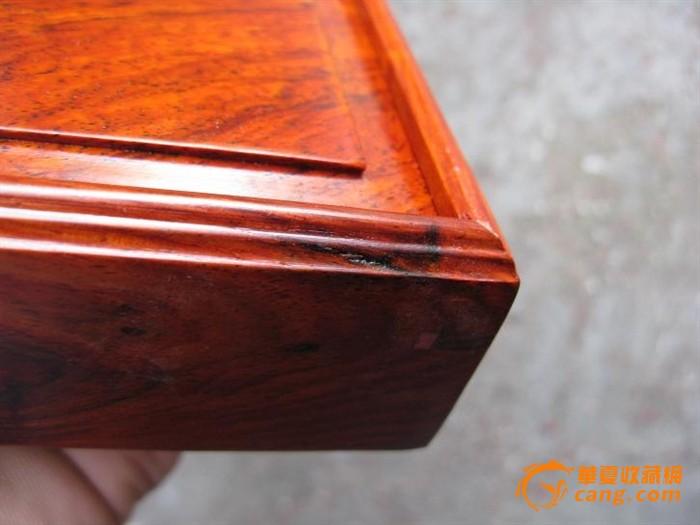 红酸枝盒子, 花纹好. 榫卯结构(#4)