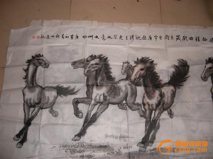 河北杜世辰先生手绘八骏图